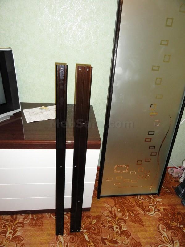 Собранные двери шкафа купе