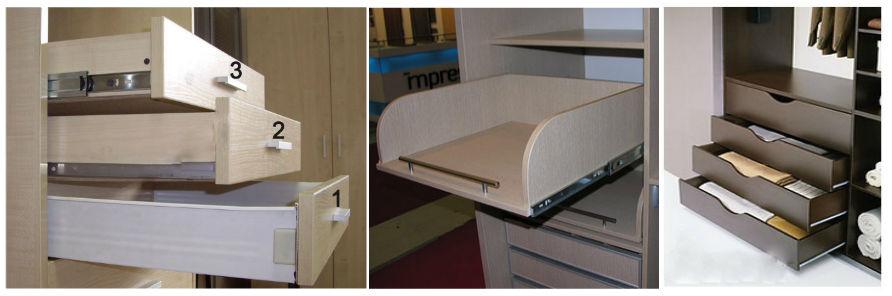 Выдвижные корзины для шкафов купе - главная идея.