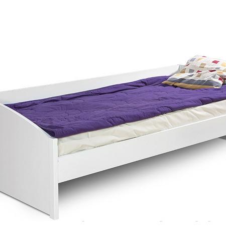 Белая кровать со спинкой