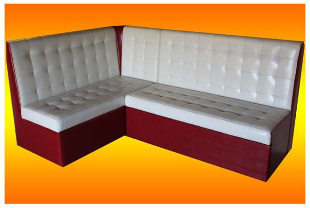 Бело-красный кухонный диван «Мурано»