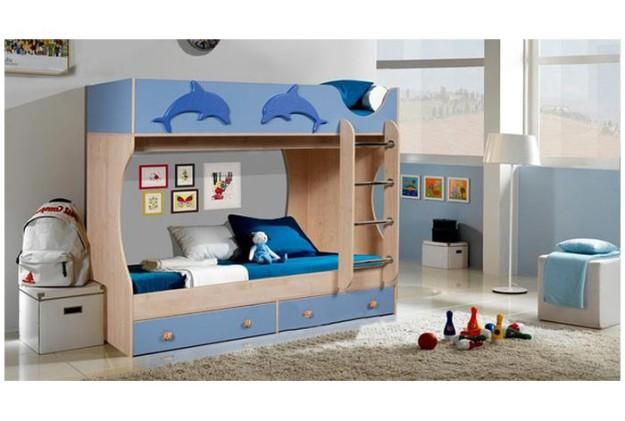 Детская кровать двухъярусная «Дельфин»
