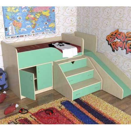 Детская кровать «Кузя» с защитным бортом