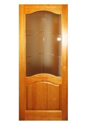 Дверь остекленная из массива сосны «М 7»