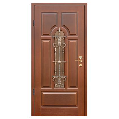 входные двери с кованной вставкой