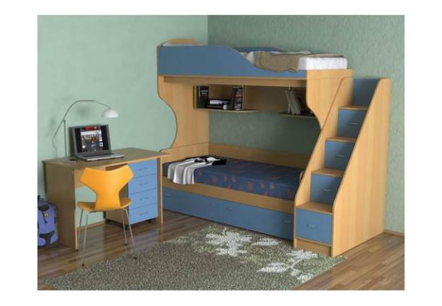 Двухъярусная кровать «Дуэт-5» со ступеньками