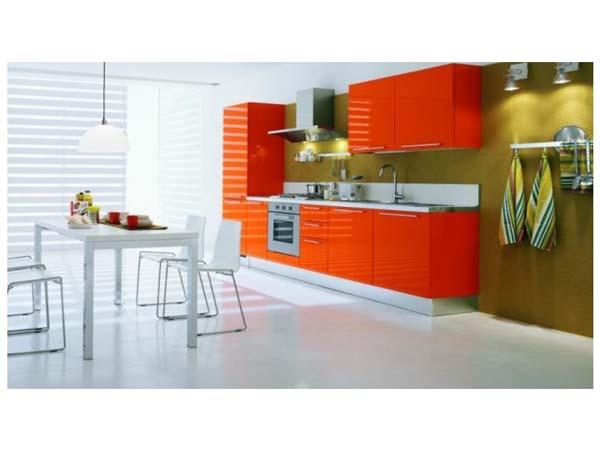 Гарнитур линейный апельсинового цвета