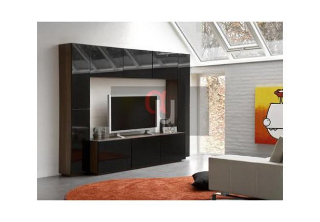 Горка для гостиной с глянцевой поверхностью