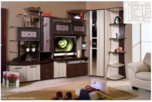 Комбинированный угловой шкаф «Орфей 5»