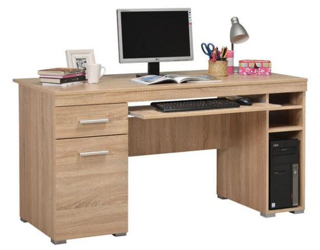 Компьютерный стол «Alfa» дуб сонома