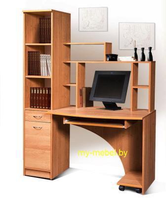Компьютерный стол с открытыми полками