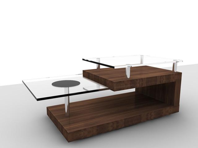 Компьютерный стол со стеклянными элементами