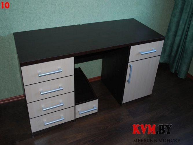 Коричнево-бежевый письменный стол - купить столы.
