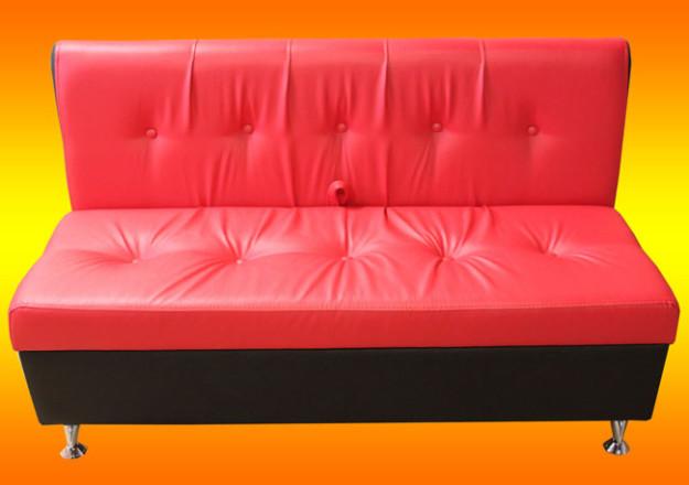 Красной-черный диван для кухни «New»