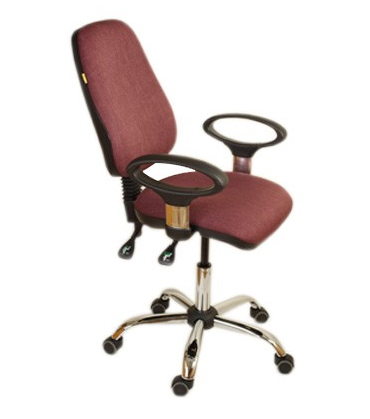 Кресло офисное «Чаирман 661 Д» бордовое
