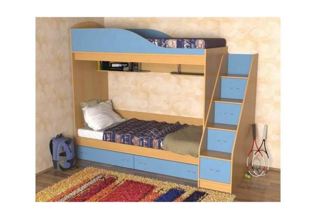 Кровать-чердак «Дуэт» со ступеньками