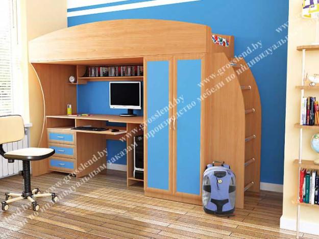 Кровать-чердак комбинированная