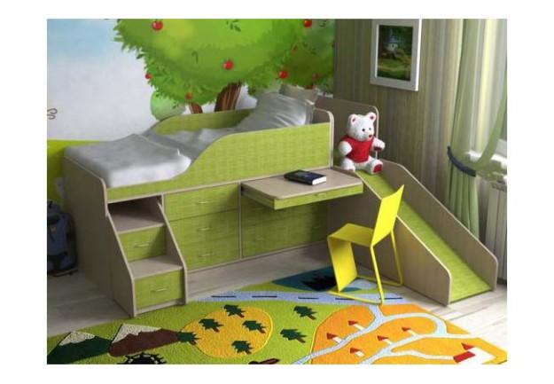 Кровать-чердак «Кузя-4» со ступеньками