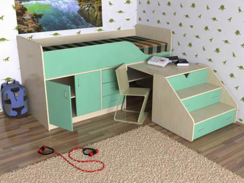 Кровать-чердак «Кузя 2»