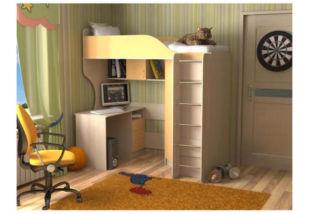 Кровать-чердак «Квартет-2» с хромированной лестницей