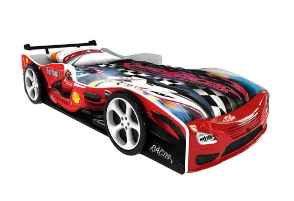 Кровать-машинка «Формула красная Премиум»