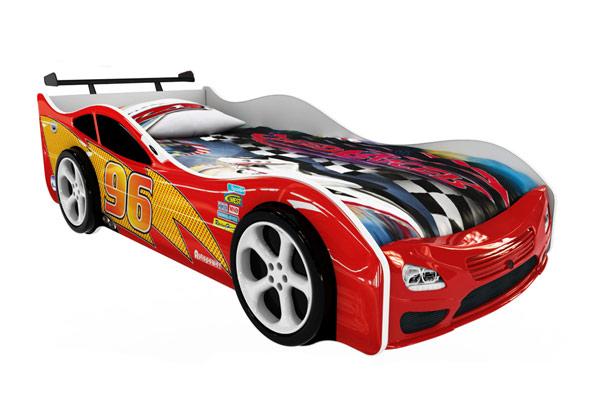 Кровать-машинка «Форсаж 3D красная»