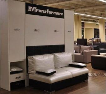 Кровать-трансформер с диваном и боковыми ящиками