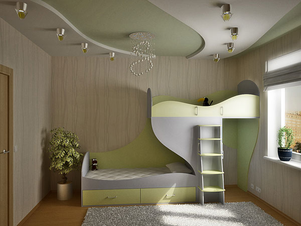 Кровать двухъярусная «Волна»