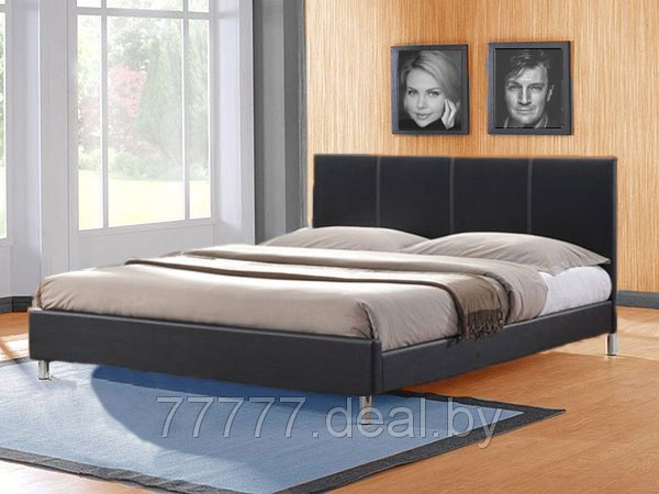 Кровать из экокожи двуспальная