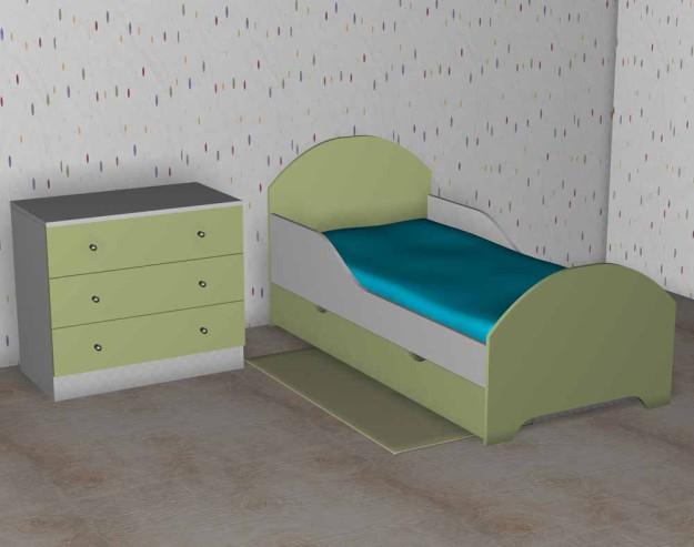 Кровать «Малышок» цветная