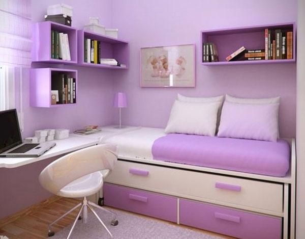 Кровать подростковая с выдвижными полками