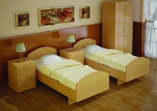 Кровать с закругленными спинками