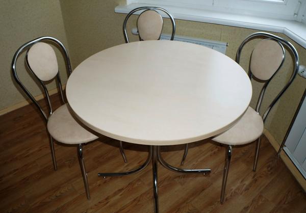 Круглый стол для кухни фото