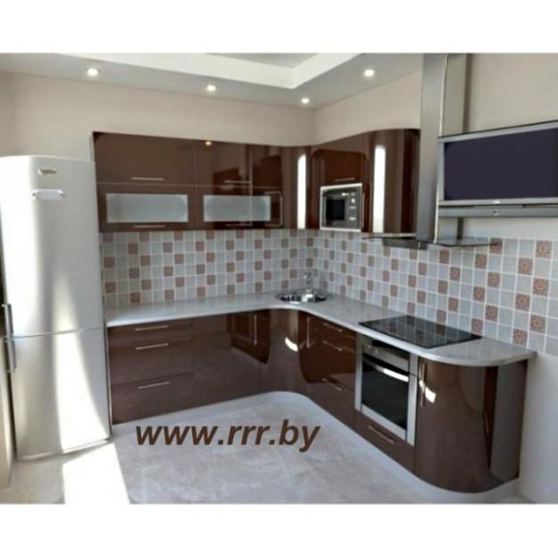 Кухня brown глянцевая