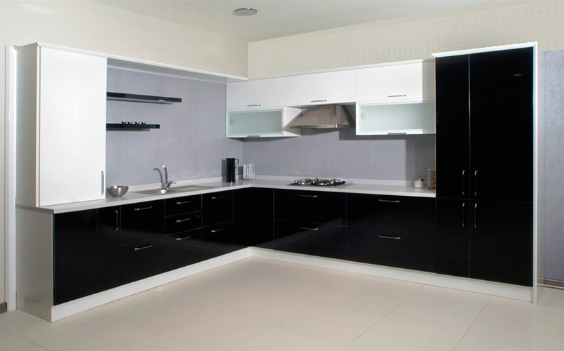 кухня черно белая угловая купить угловые кухни