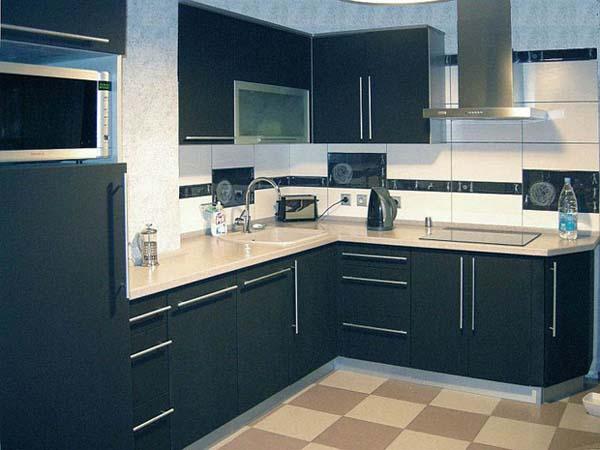 Кухня цвета мокрый асфальт