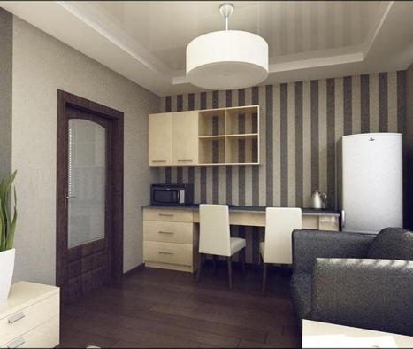 Кухня для офиса в светлых тонах