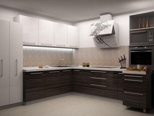 Кухня двухцветная функциональная