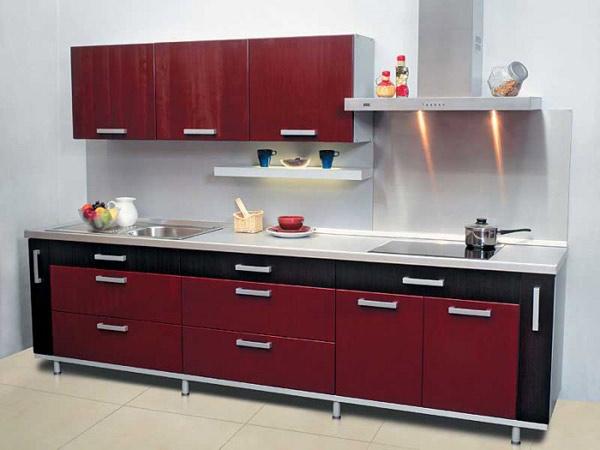 Кухня двухцветная контрастная