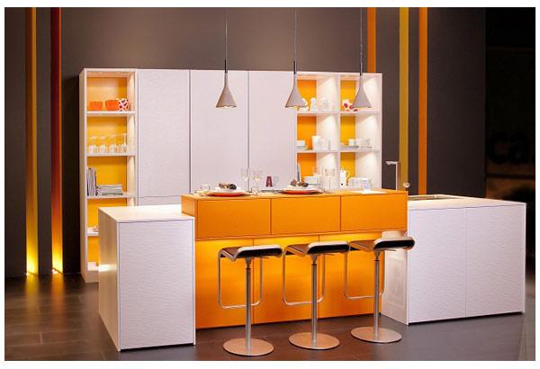 Кухня двухцветная с подстветкой