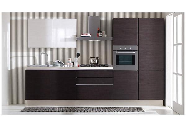 Кухня двухцветная в минималистичном стиле