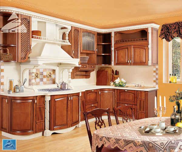 Кухня фасад массив ясеня Т512/102