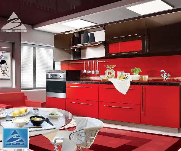 Кухня фасад система RAL глянец 8019/3020