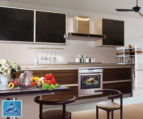 Кухня фасад Тафель глянец зебрано