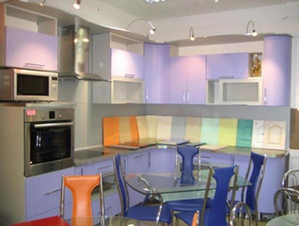 Кухня фиолетовая