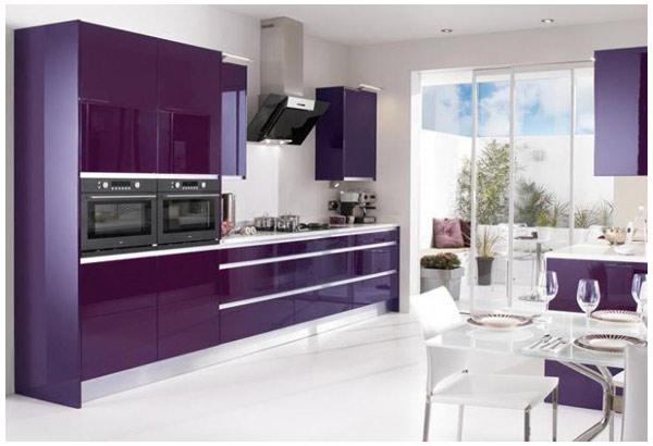 Кухня фиолетовая глянцевая
