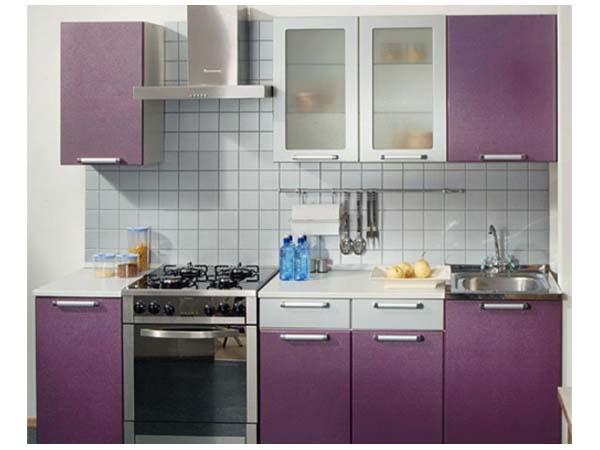Кухня фиолетовая матовая