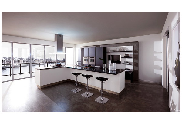 Кухня функциональная в современном дизайне