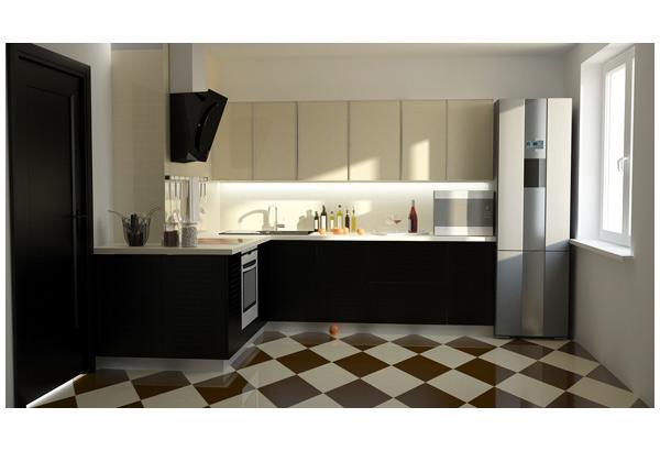 Кухня гармоничная в минималистичном стиле