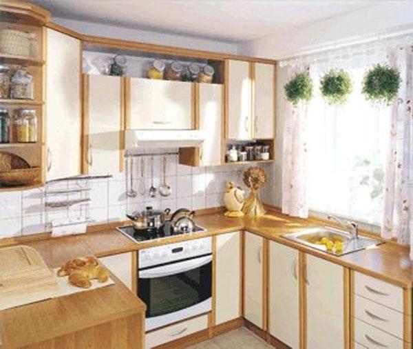 Кухня из светлого дерева мдф
