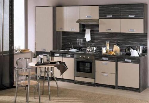 Кухня комбинированная двухцветная